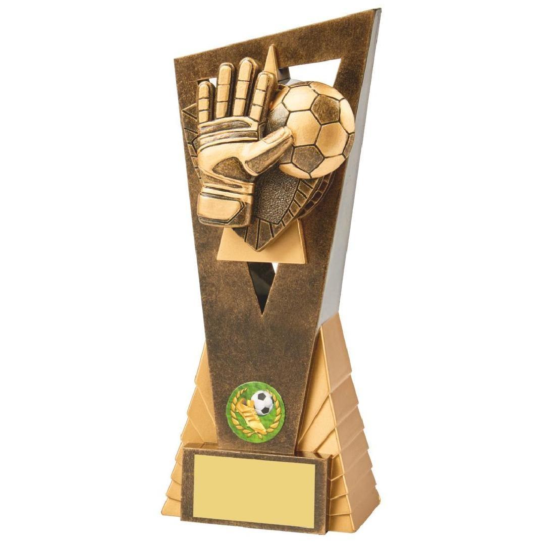 21cm Antique Gold Football Goalie Edge Award