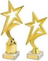 18.5cm Gold Shooting Star Holder Award