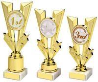 17cm Shiny Gold V Placing Holder Award