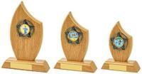 14cm Light Oak Sail Wood Trim Award
