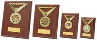 13cm Rectangular Rosewood Medal Trim Plaques