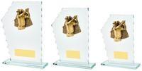 18cm Jade Glass Male Golf Resin Trim Award