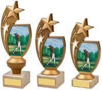 17cm Colour Male Golf Star Holder Award
