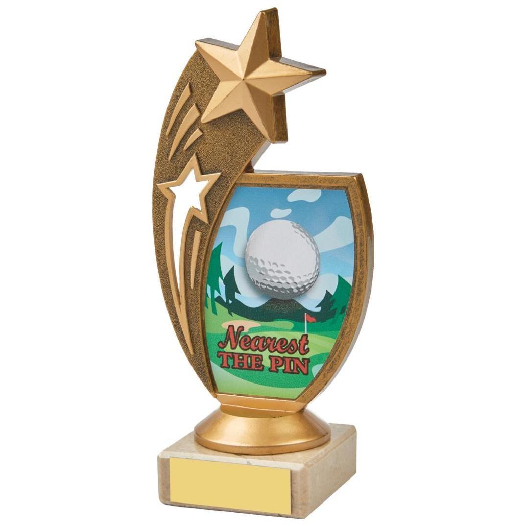 17cm Colour Nearest the Pin Star Holder Award
