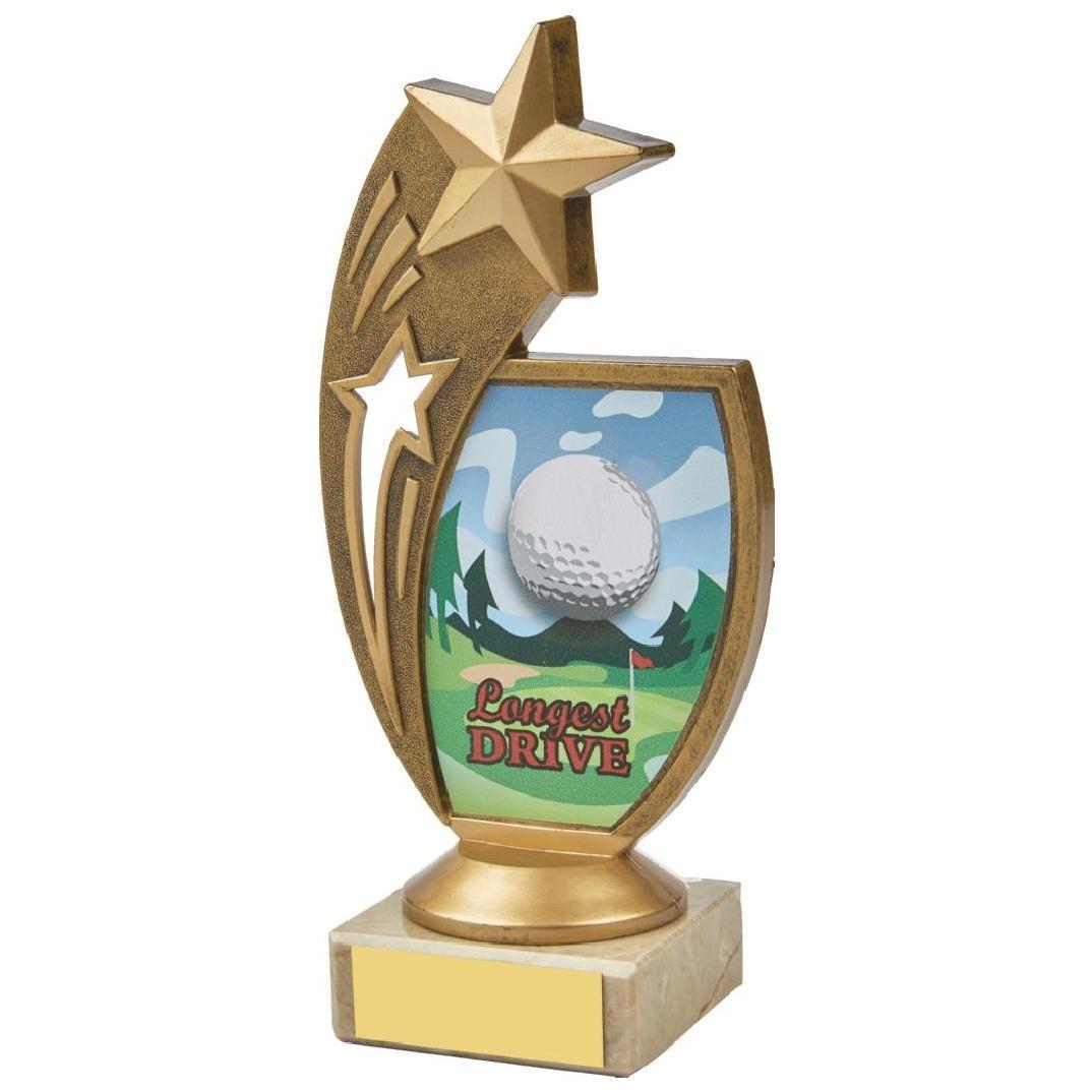 17cm Colour Longest Drive Star Holder Award