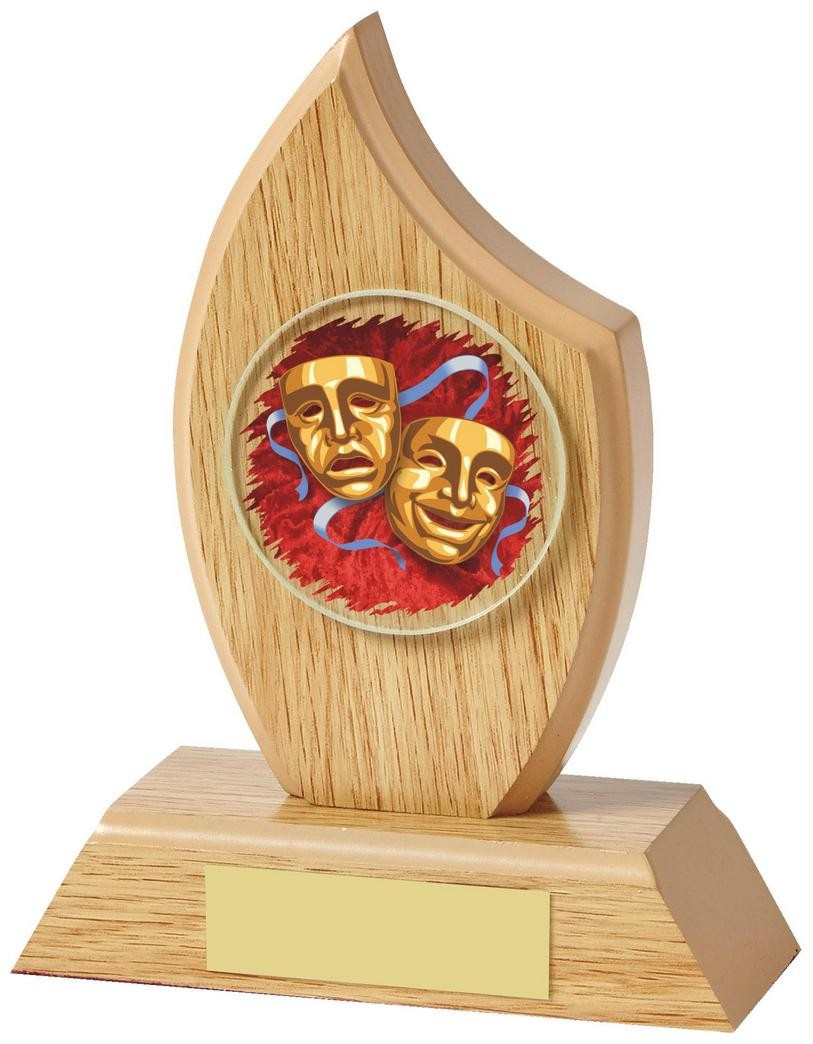 14cm Light Wood Effect Sail Award