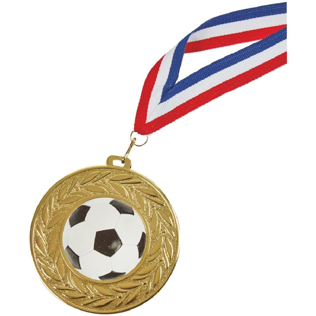 90mm Football Medal in Gold