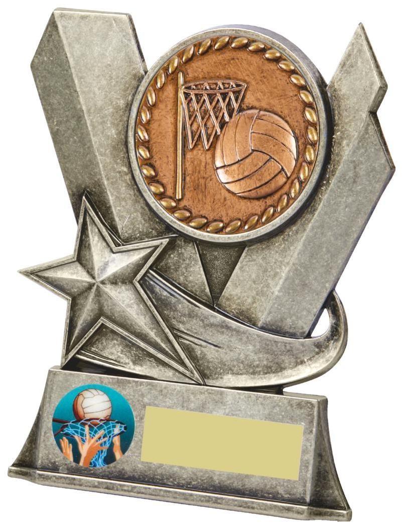 10cm Metal Netball Stand Award