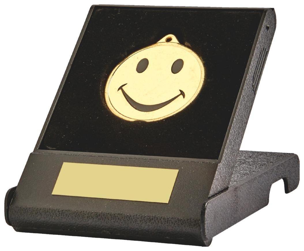 Happy Medal in Presentation Case