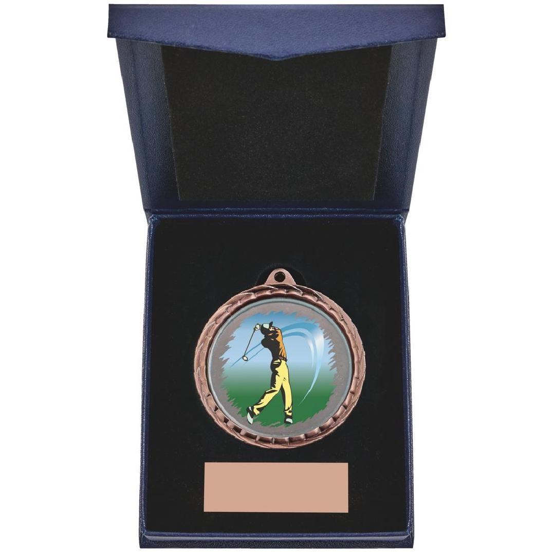 Golf (M) Insert Medal in Presentation Case