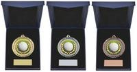 Golf Ball Insert Medal in Presentation Case - 3 Colours