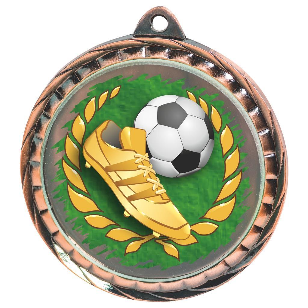 60mm Bronze Colour Print Football Medal - Jackson Trophies