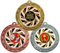 """70mm """"Sun Burst"""" Sports Medals in Bronze"""