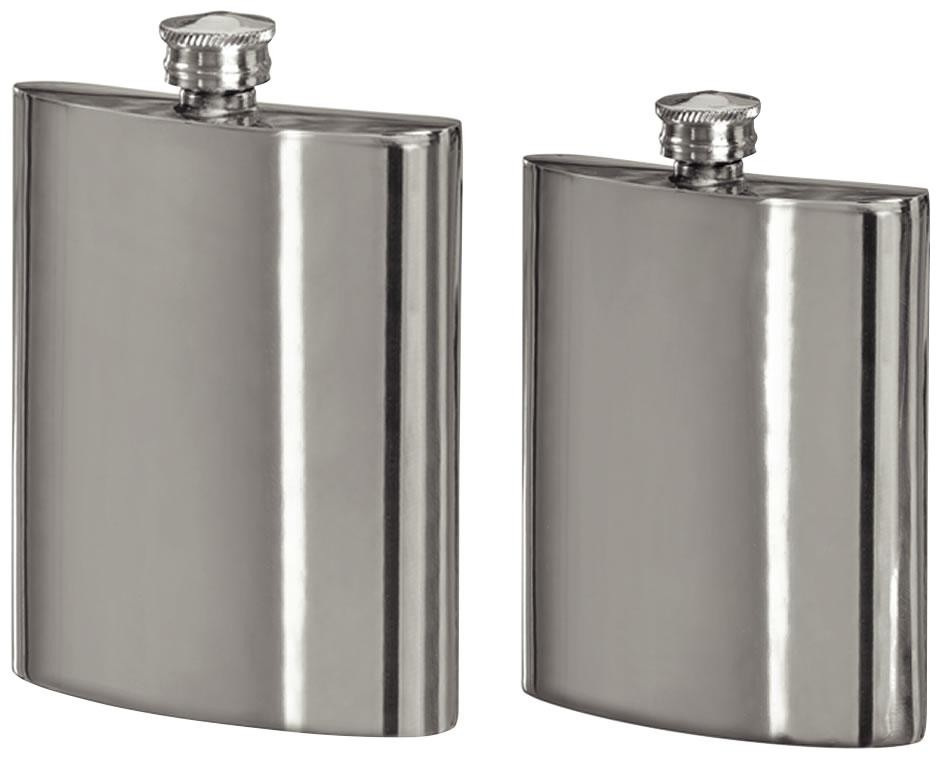 4oz Pewter Hip Flask In Silver Pewter