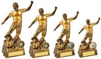 14cm Male Antique Gold Football Player