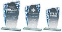 15.5cm Silver/Red Budget Glass Award