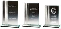 17.5cm Clear Glass Rectangle Award