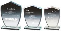 12cm Clear Glass Shield Award