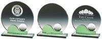 15.5cm Crystal Golf Award with Green