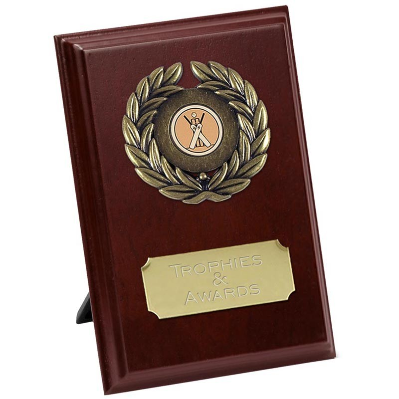 Prize Plaque In Rosewood And Gold