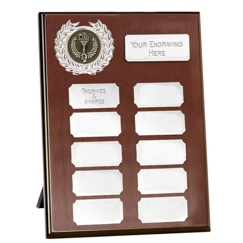 Westminster Budget Record Plaque in Silver - Available in 5 Sizes