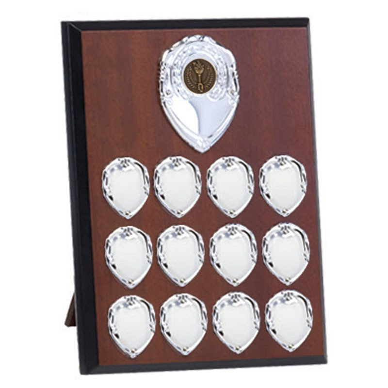 Westminster Annual Plaque In Walnut And Silver - Available in 3 Sizes