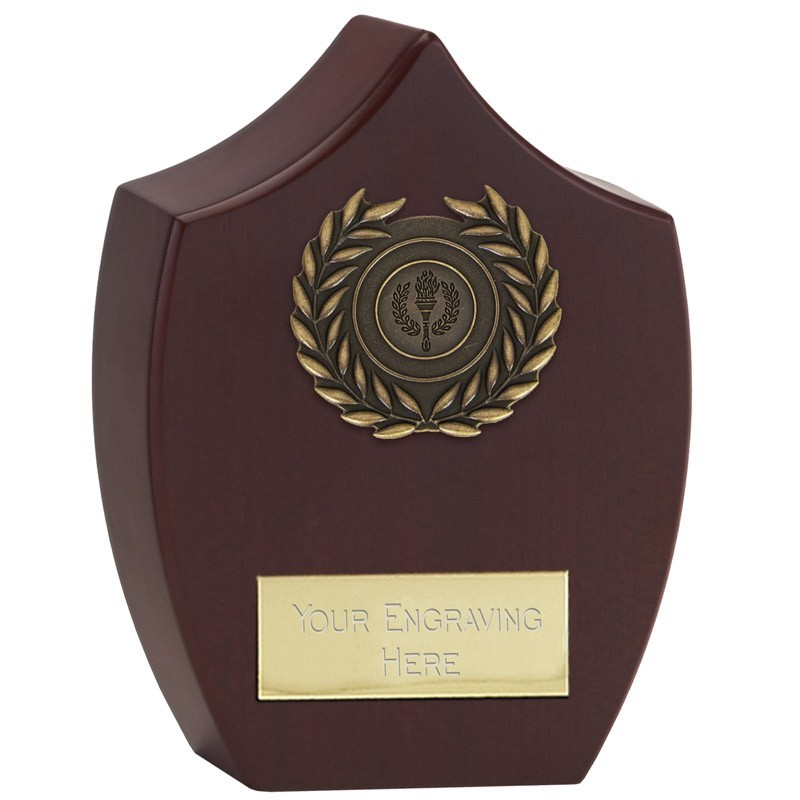 Forum Presentation Plaque In Rosewood And Gold