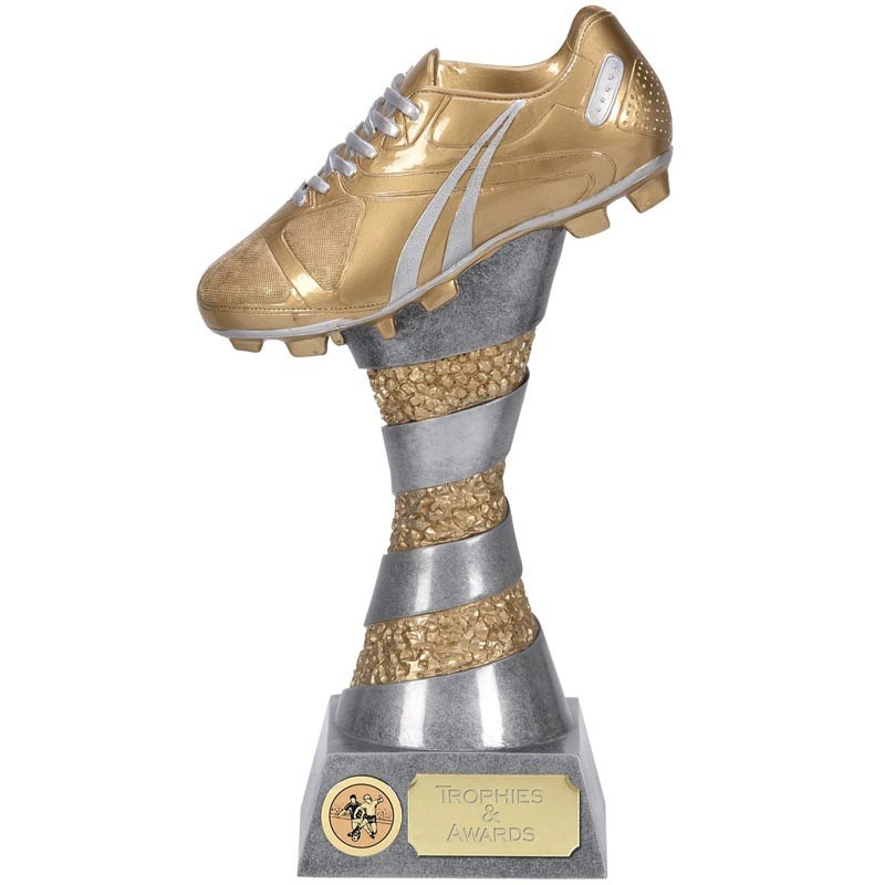 X-Plode Football Boot In Silver And Gold