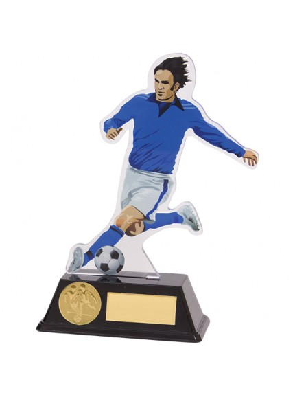 Attack Football Male Acrylic Plaque Blue & White