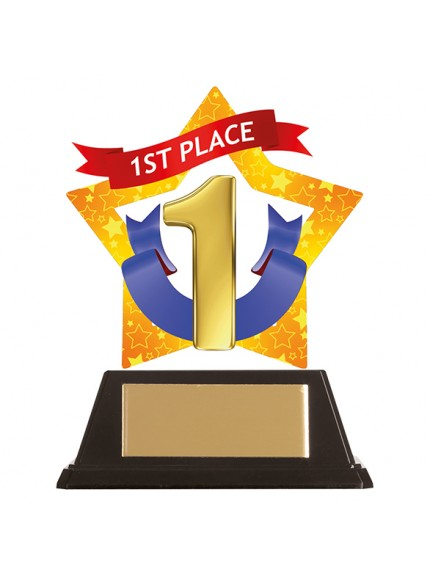Mini-Star Place Acrylic Plaque - 1st, 2nd, 3rd