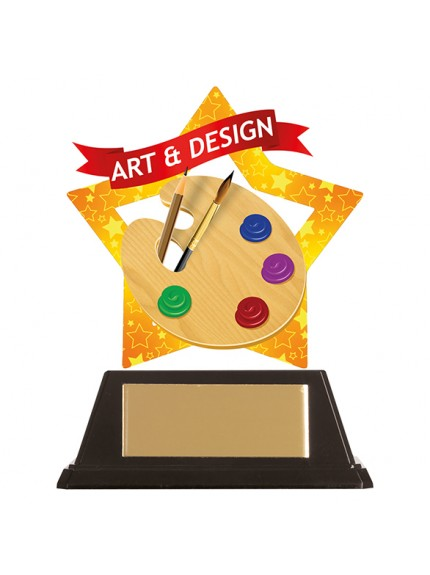 Mini-Star Art & Design Acrylic Plaque 100mm