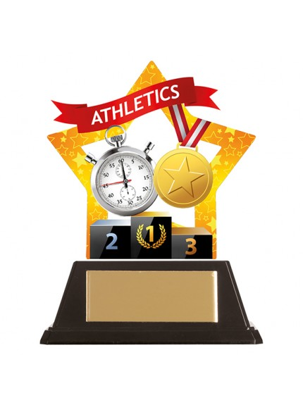Mini-Star Athletics Acrylic Plaque 100mm
