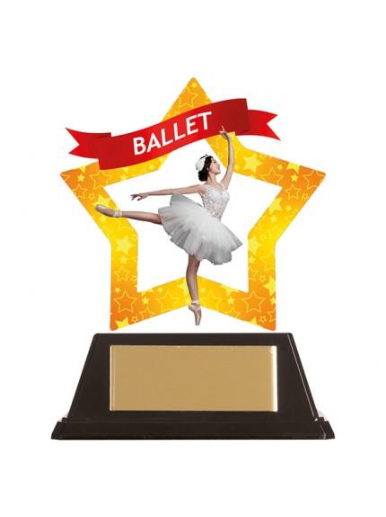 Mini-Star Ballet Acrylic Plaque 100mm