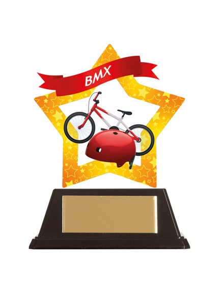 Mini-Star BMX Acrylic Plaque 100mm
