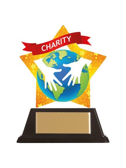 Mini-Star Charity Acrylic Plaque 100mm