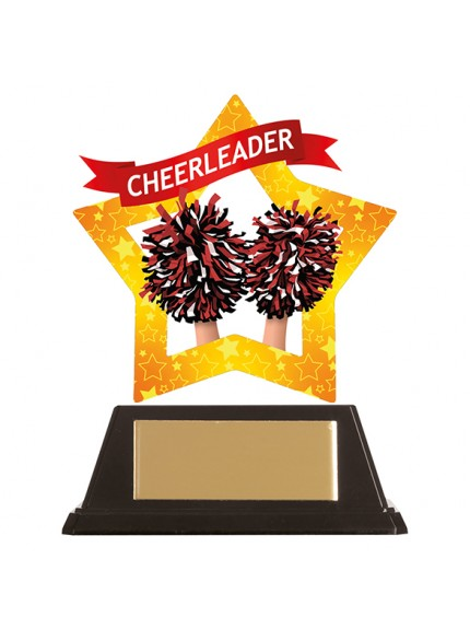 Mini-Star Cheerleader Acrylic Plaque 100mm