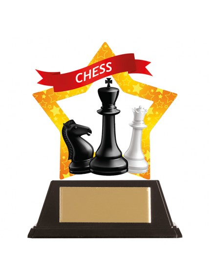 Mini-Star Chess Acrylic Plaque 100mm