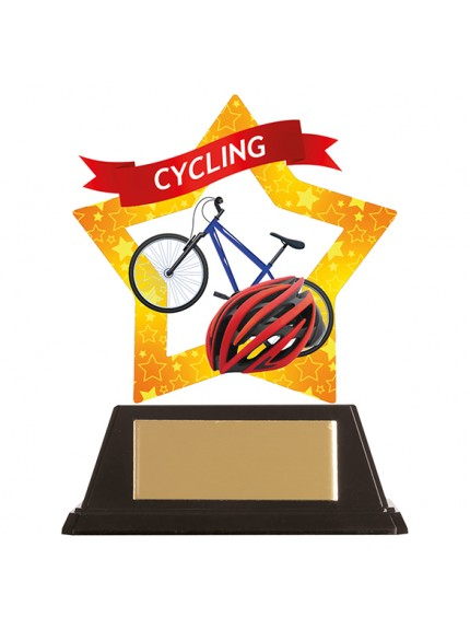 Mini-Star Cycling Acrylic Plaque 100mm