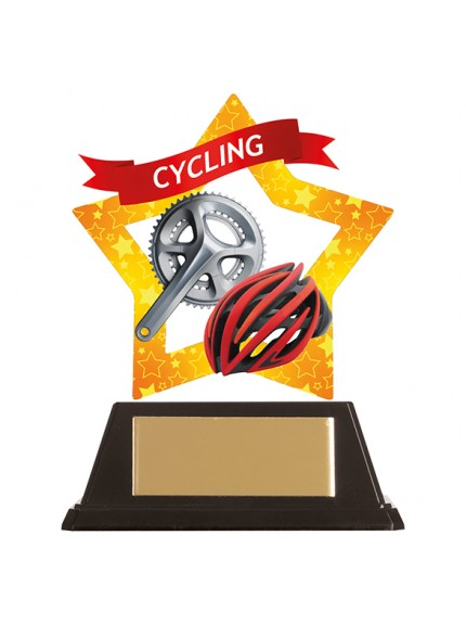 Mini-Star Cycle & Helmet Acrylic Plaque 100mm