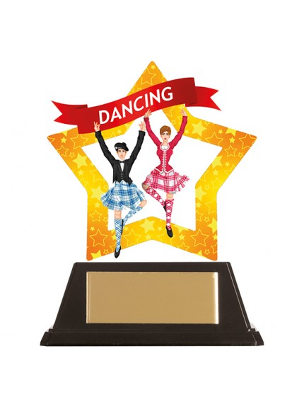 Mini-Star Highland Dance Acrylic Plaque 100mm
