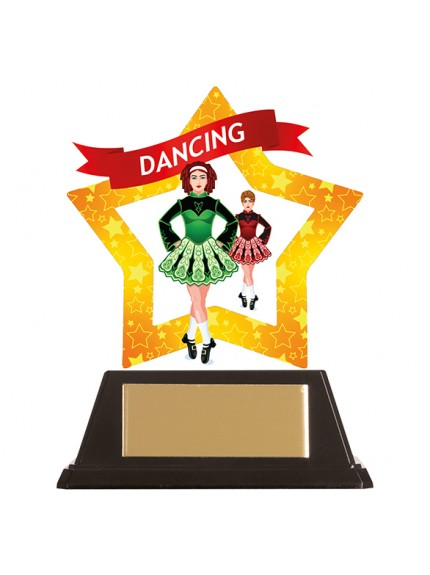 Mini-Star Irish Dance Acrylic Plaque 100mm
