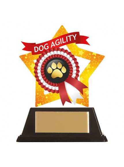 Mini-Star Dog Paw Acrylic Plaque 100mm
