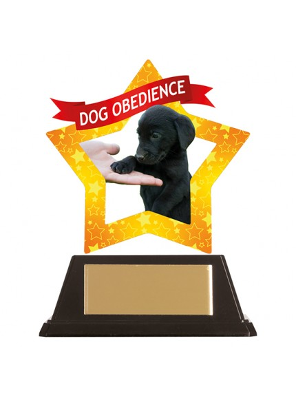 Mini-Star Dog Obedience Acrylic Plaque 100mm