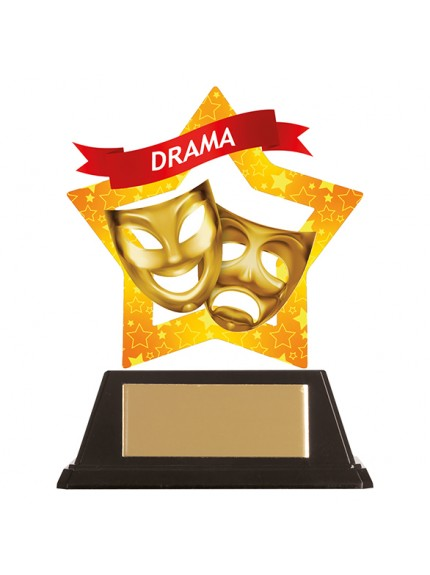 Mini-Star Drama Acrylic Plaque 100mm