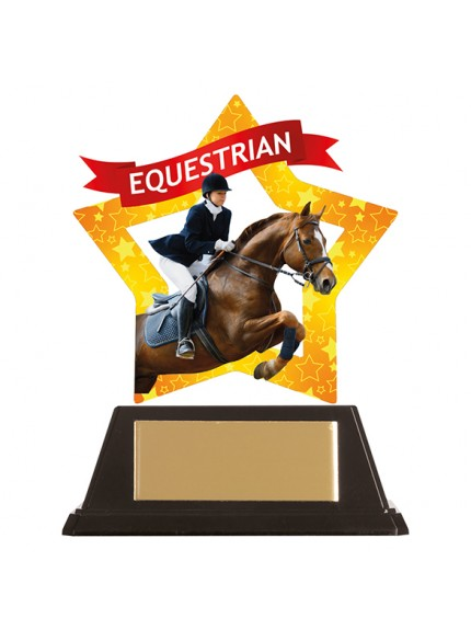Mini-Star Equestrian Acrylic Plaque 100mm