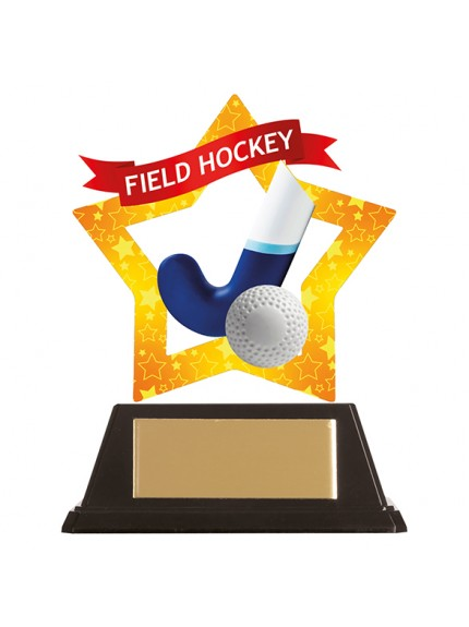 Mini-Star Field Hockey Acrylic Plaque 100mm
