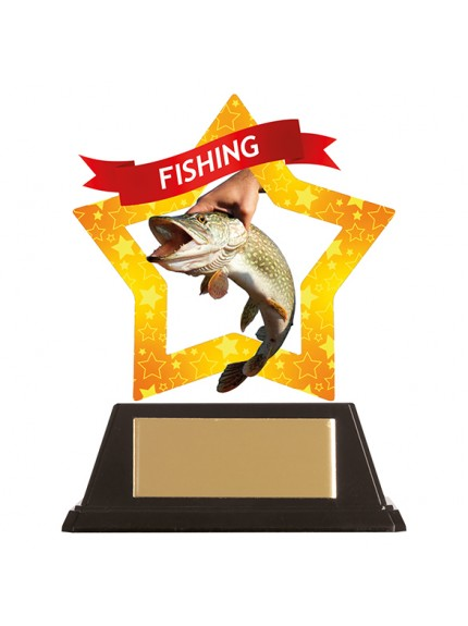 Mini-Star Fishing Acrylic Plaque 100mm