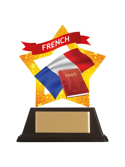 Mini-Star French Acrylic Plaque 100mm