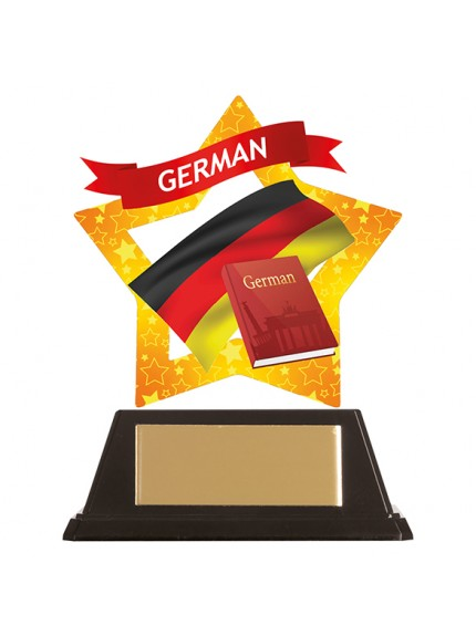 Mini-Star German Acrylic Plaque 100mm
