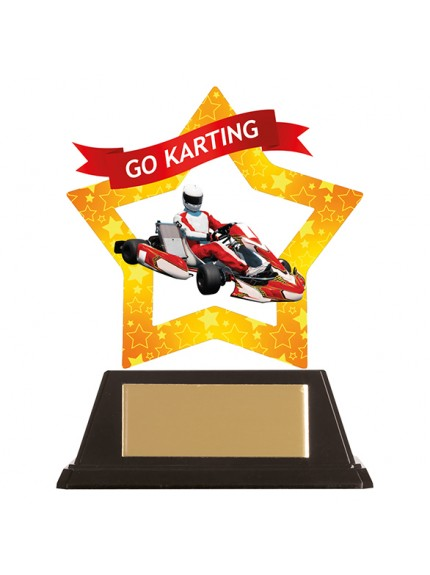 Mini-Star Go-Karting Acrylic Plaque 100mm